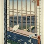 浅草田圃を眺める猫の図