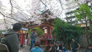 秋葉神社の風景
